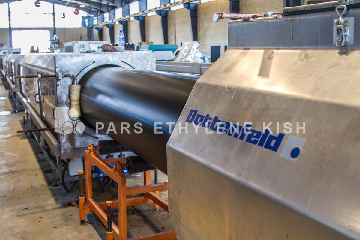 خط تولید لوله پلی اتیلن شرکت پارس اتیلن کیش